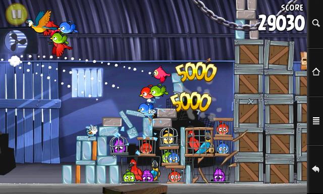 Prestigio MultiPad PMP7070C - скриншот Angry Birds Rio