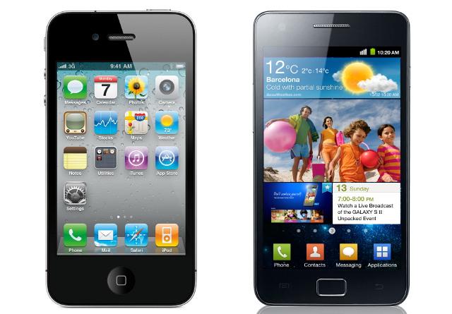 Samsung Galaxy S 2 и Apple iPhone 4