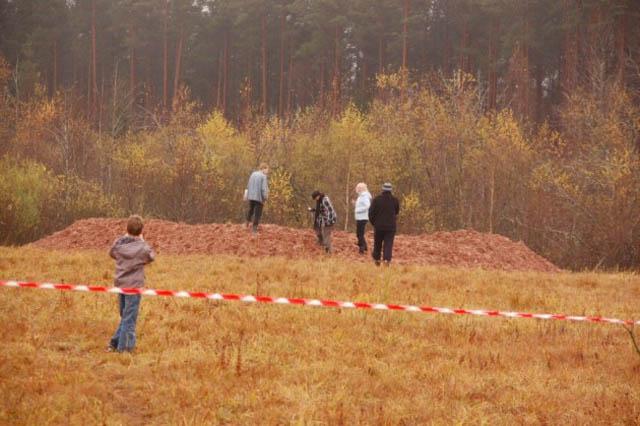 Фотографии сделанные на следующий день после падения метеорита