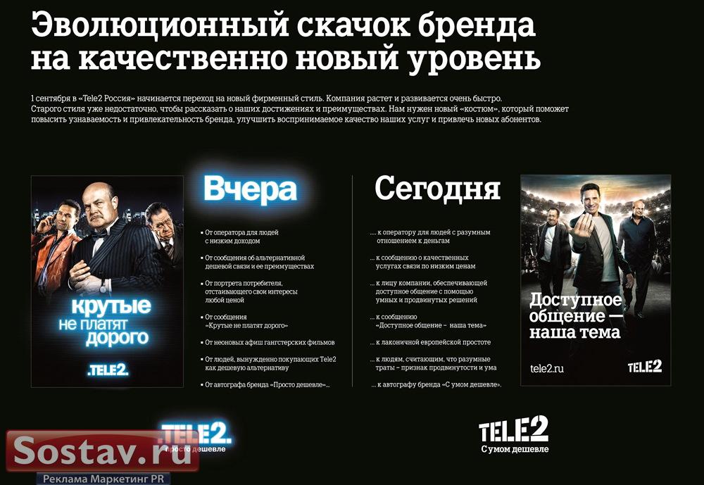 Новый фирменный стиль TELE2